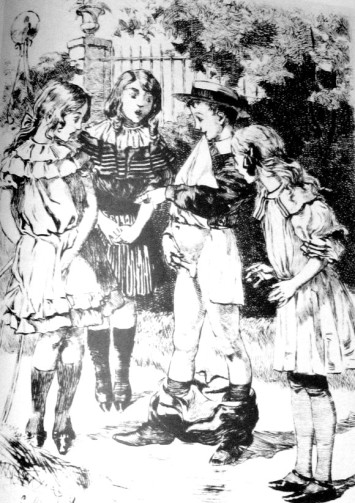 Sexual curiosity at an early age is part of children's development and has always existed as is evident from this 19th century drawing.