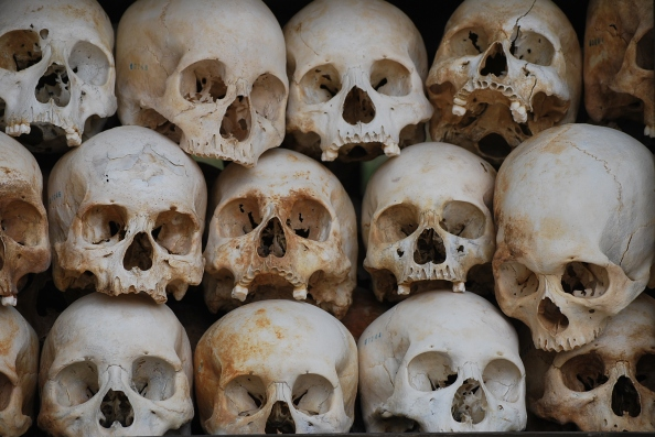Many victims were decapitated, and skulls were buried separately from the bodies.