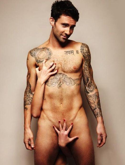 adam-levine naked